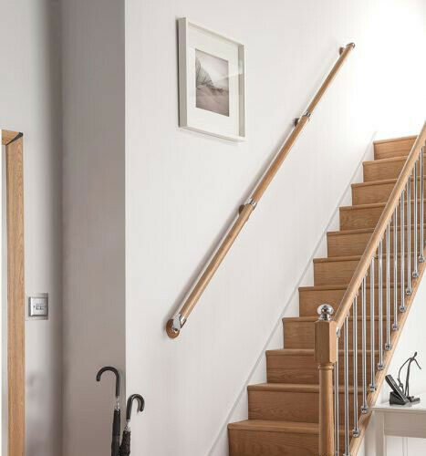 Wall Mounted Handrail Kit Pine Oak Ebay