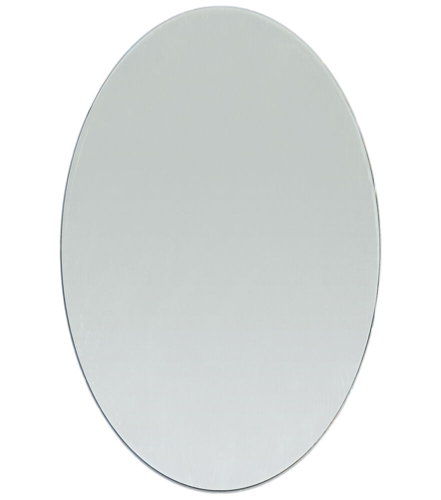 5 x 7 inch glass craft oval mirrors bulk 24 pieces mosaic for Small round craft mirrors