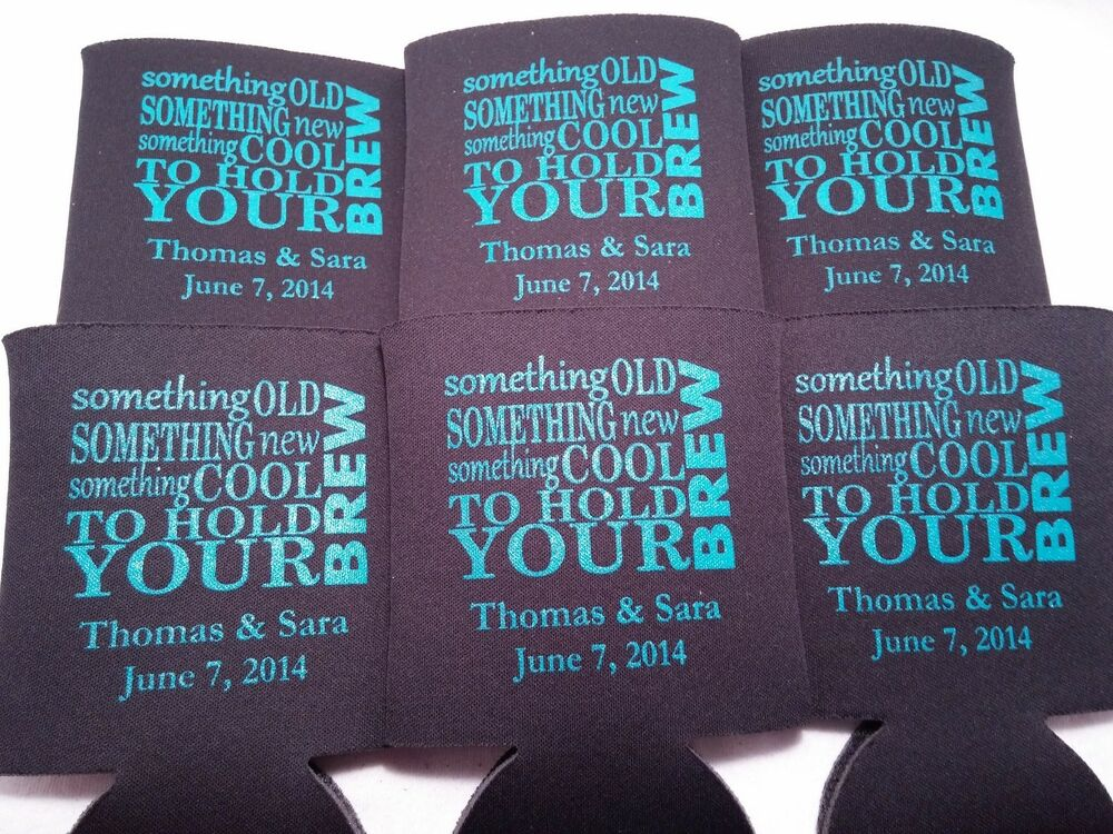 Something Cool To Hold Your Brew Wedding Koozies Design