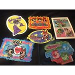 """Rare Power Puff Girls 6pc Stickers NEW sizes 3 1/2""""x2"""" to 4""""x2 1/5"""" Party supply"""