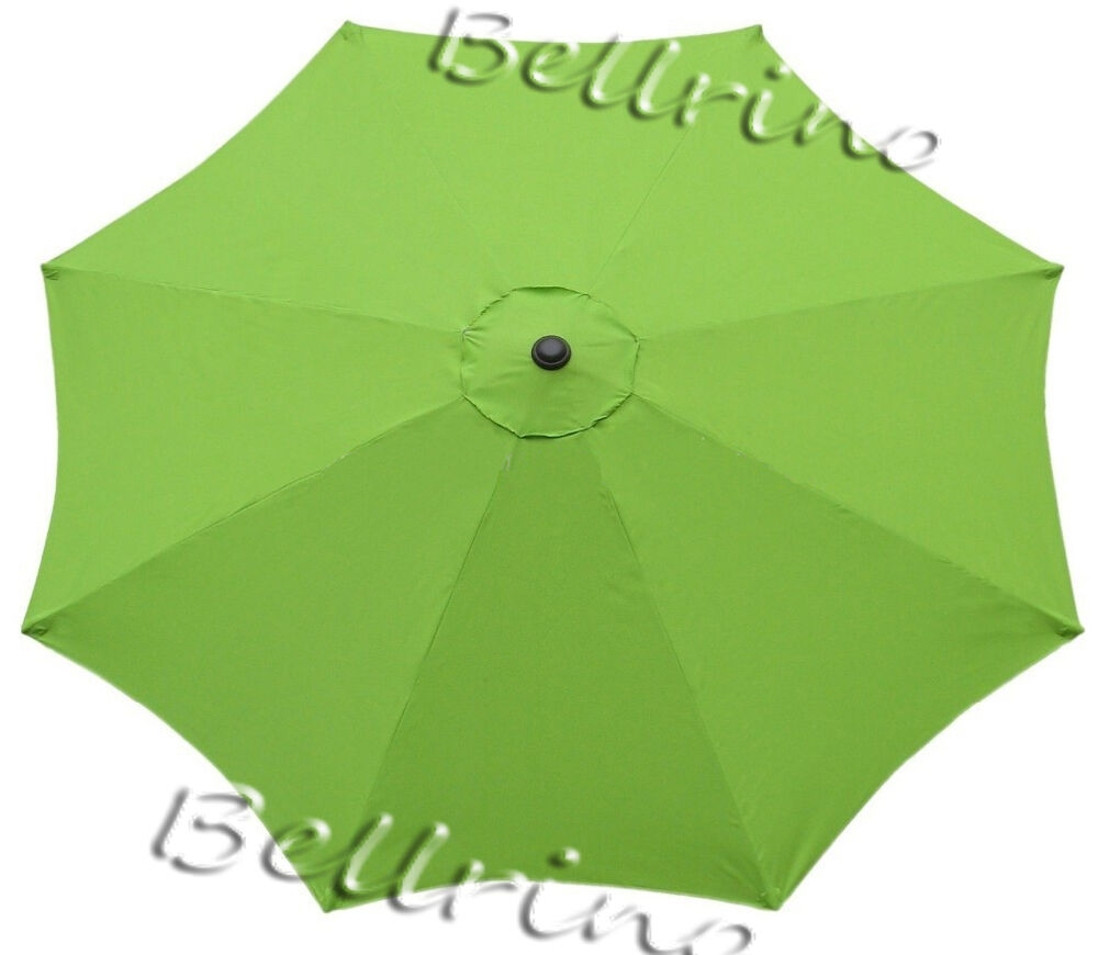 Sage Green Umbrella Canopy 9 Ft 6 Ribs Top Patio Market