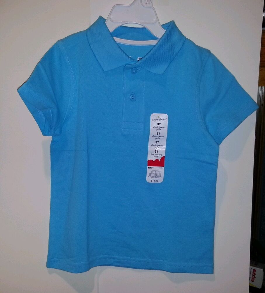 Toddler boys girls jumping beans brand polo shirt blue for Toddler boys polo shirts