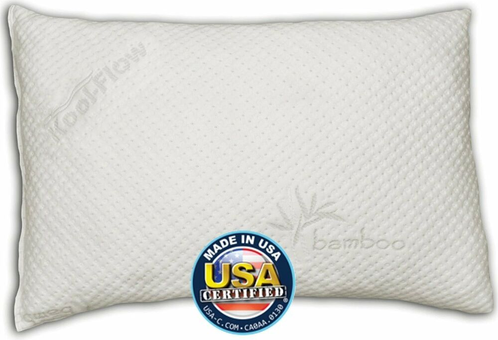 Snuggle Pedic Shredded Memory Foam Pillow W Bamboo Ultra