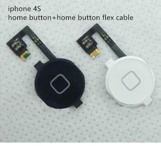 home button for iphone home button flex cable for iphone 4 4s black white color 5301
