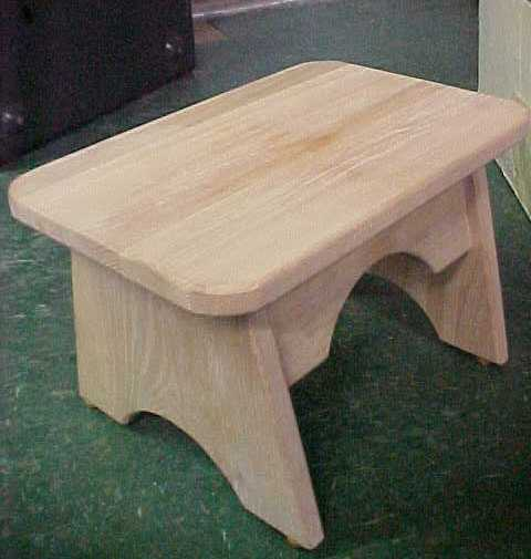 Solid Oak Wooden Wood Foot Stool Step Amish Made In Usa