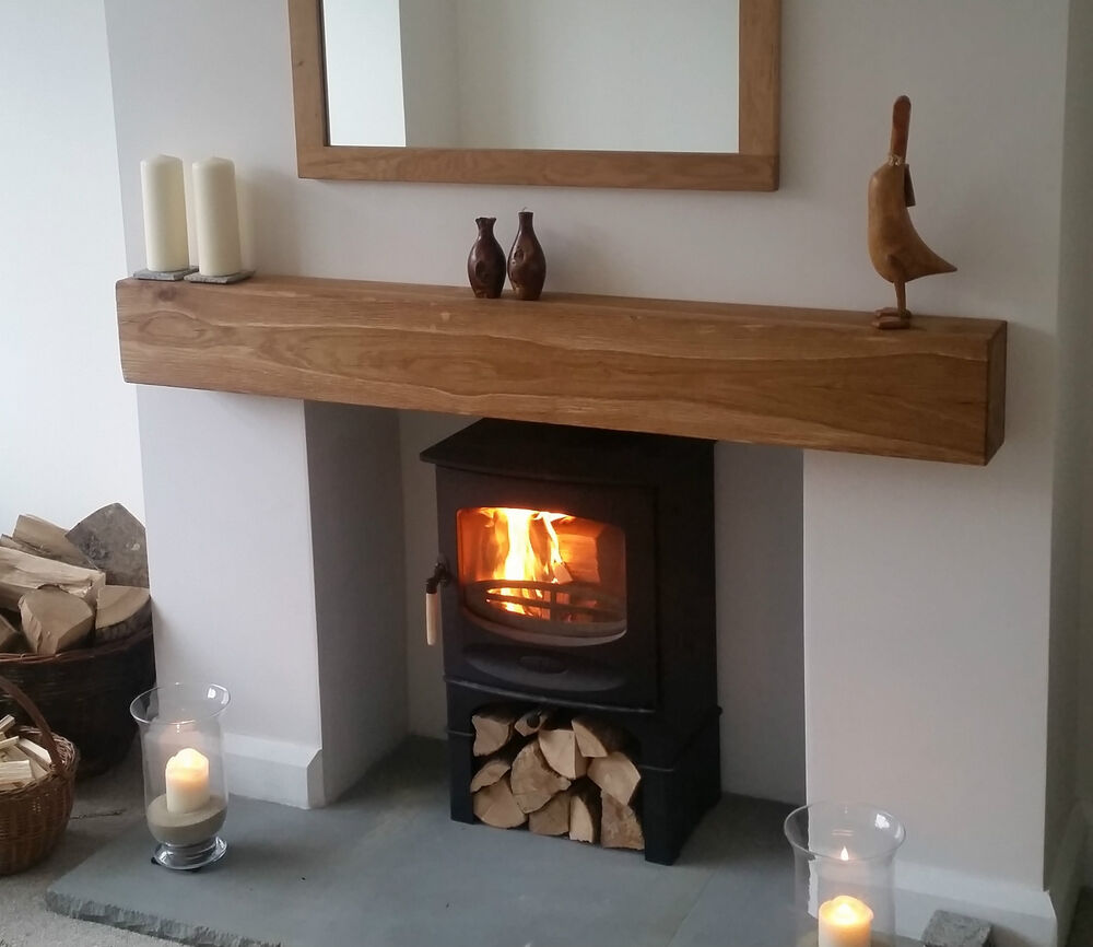 6 Quot X4 Quot X4ft Solid Oak Beam Floating Wood Mantel Predrilled