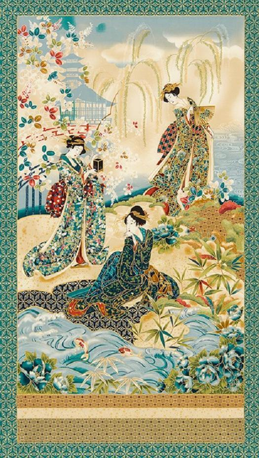 Imperial Collection 12 Japanese Garden Quilting Panel