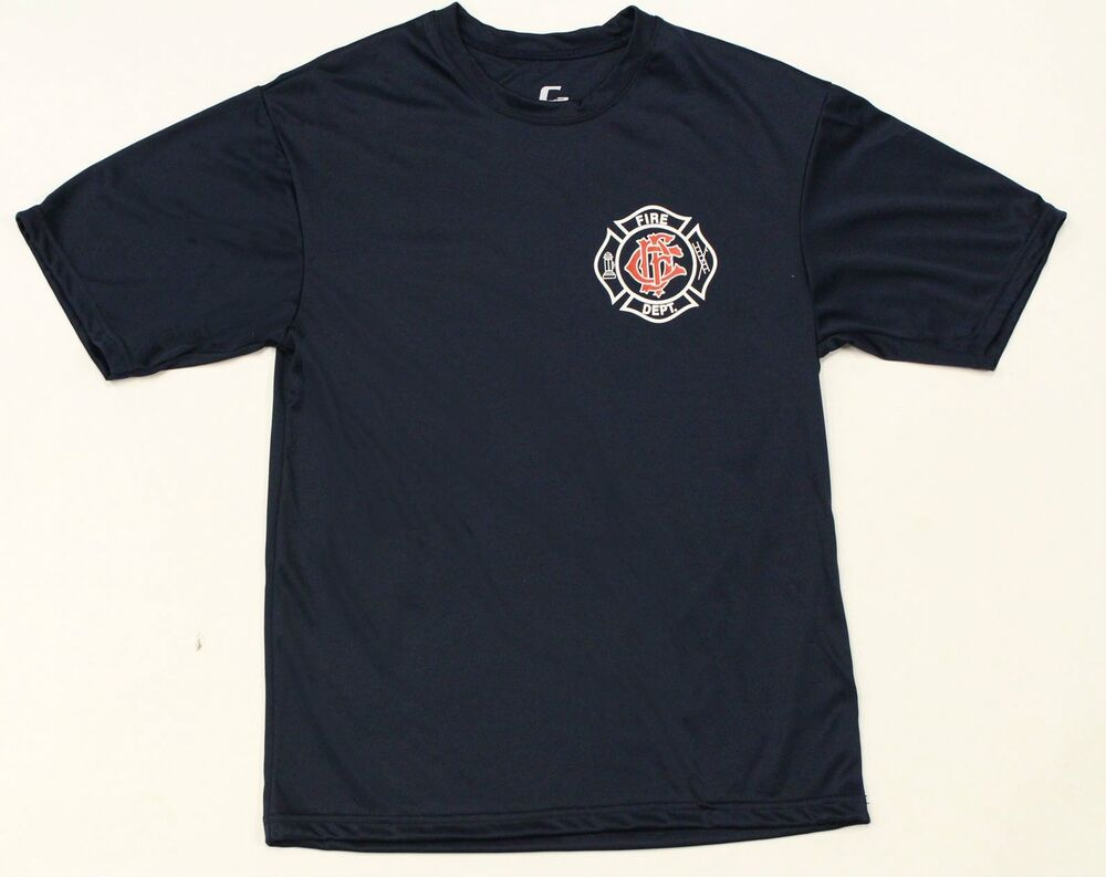 Chicago Fire Department Maltese Cross Navy Performance T ...