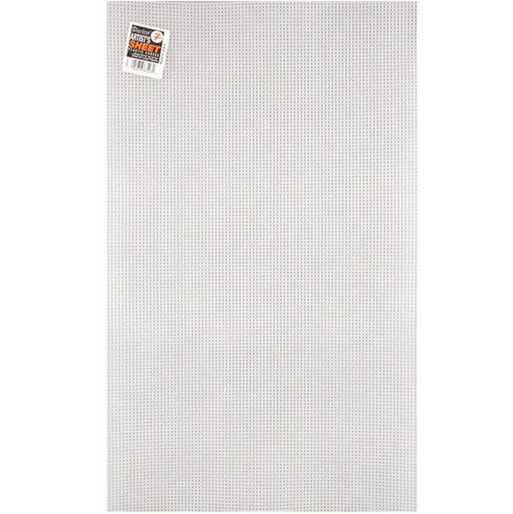 7 Mesh Count Clear Plastic Canvas Large Artist Sheet 13 5