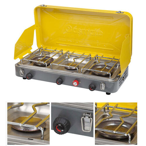 3 Burner Camp Stoves: GASMATE 3 BURNER LOW PRESSURE STOVE (CS3095) Gas Camping