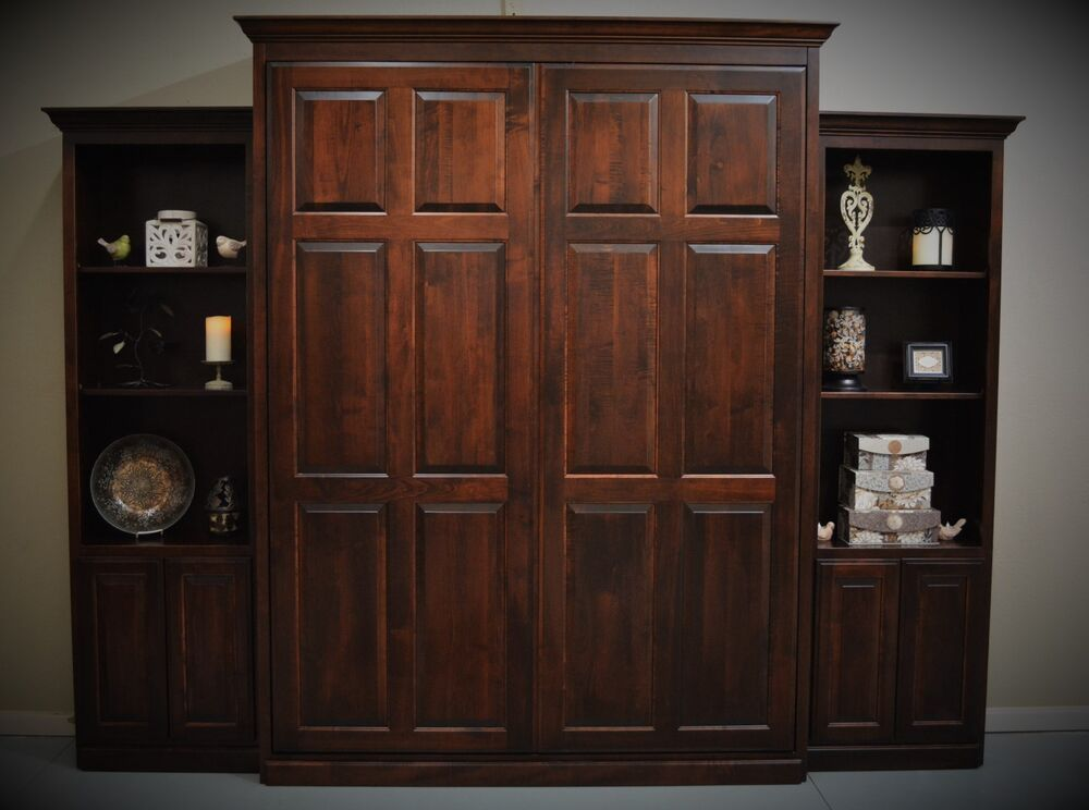 Custom Built Queen Murphy Bed With 24 Quot Cabinets Ebay