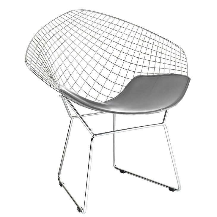 Diamond Shaped Chair Wire Mesh Chair Mid Century Modern
