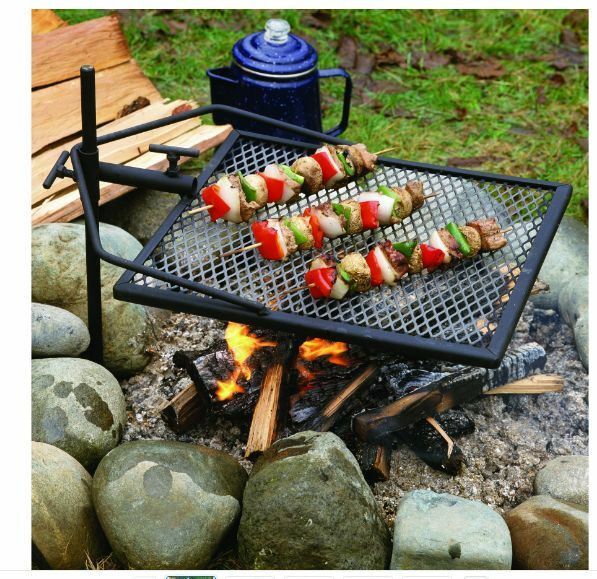 Campfire Cooking 4 Easy Camping Recipes: Campfire Grill Cooking Equipment Grate Portable Adjustable
