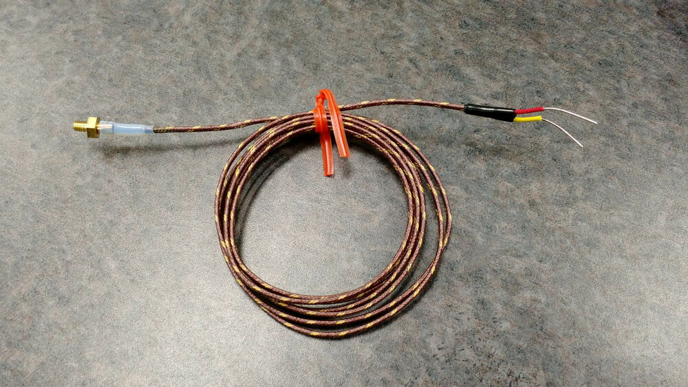 Wiring 3 Wire Thermocouple : Makerbot replicator thermocouple tc type k stranded