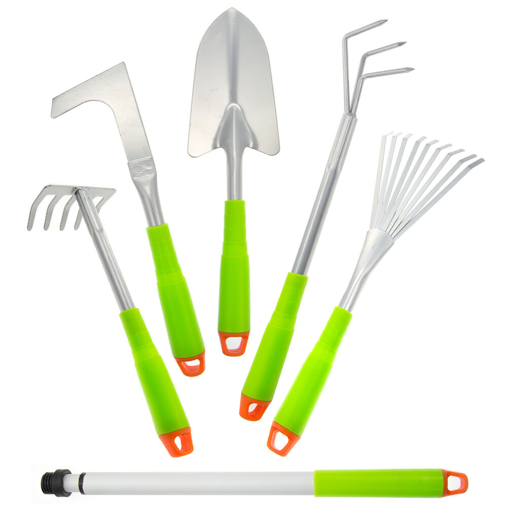 5pc gardening hand tools set telescopic extender for Tools for backyard gardening