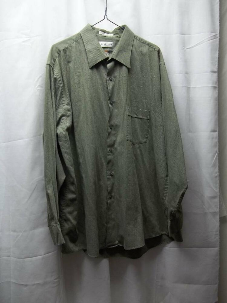 men 39 s van heusen size 18 34 35 xxl green dress shirt