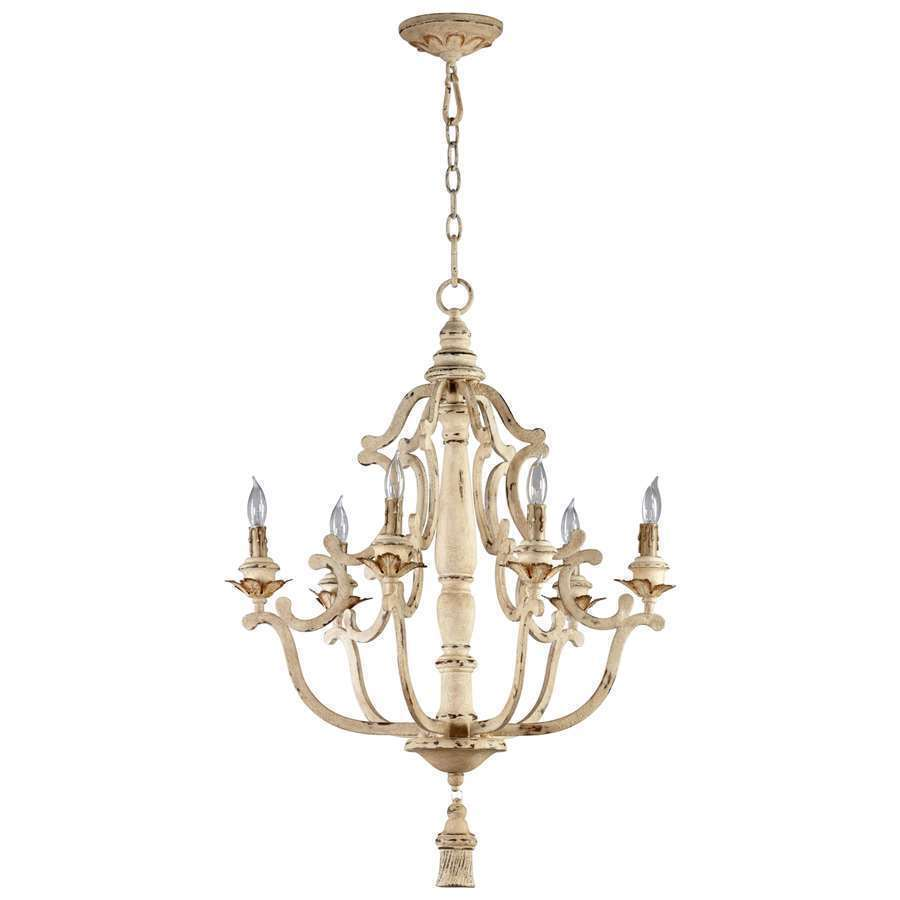 primitive rustic french country antique style maison chandelier 6 light 04633 ebay. Black Bedroom Furniture Sets. Home Design Ideas