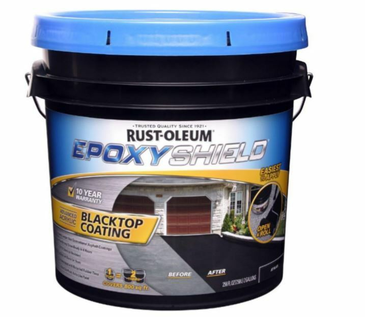 Blacktop Coating Jet Black 2 Gal. Rust-Oleum EpoxyShield ...