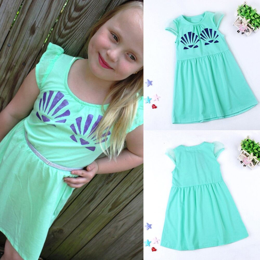 42a77bdd70d0 Details about Toddler Kids Baby Girls Summer Casual Princess Dress Party  Dresses Clothing