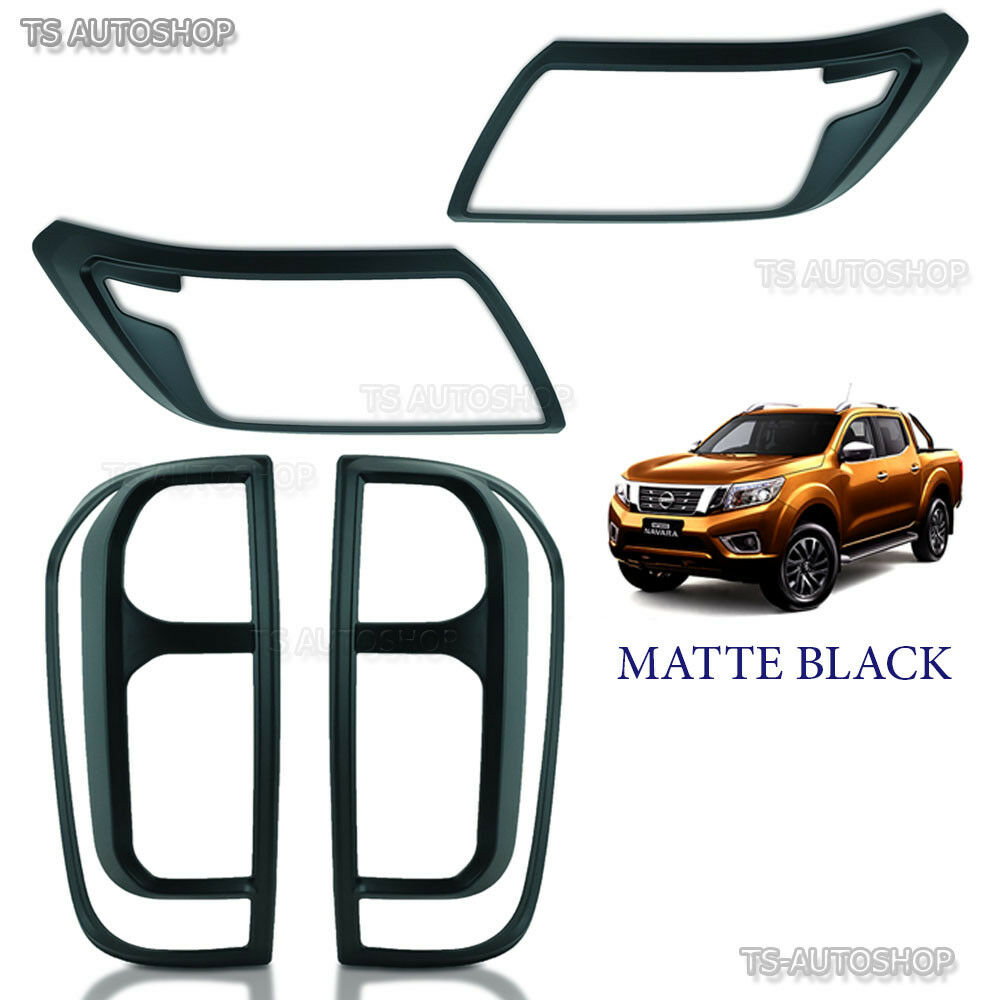 Set Black Fog Lamp Spot Light Fit Chevrolet Colorado: Set Matte Black Head Light Tail Lamp Cover For Nissan