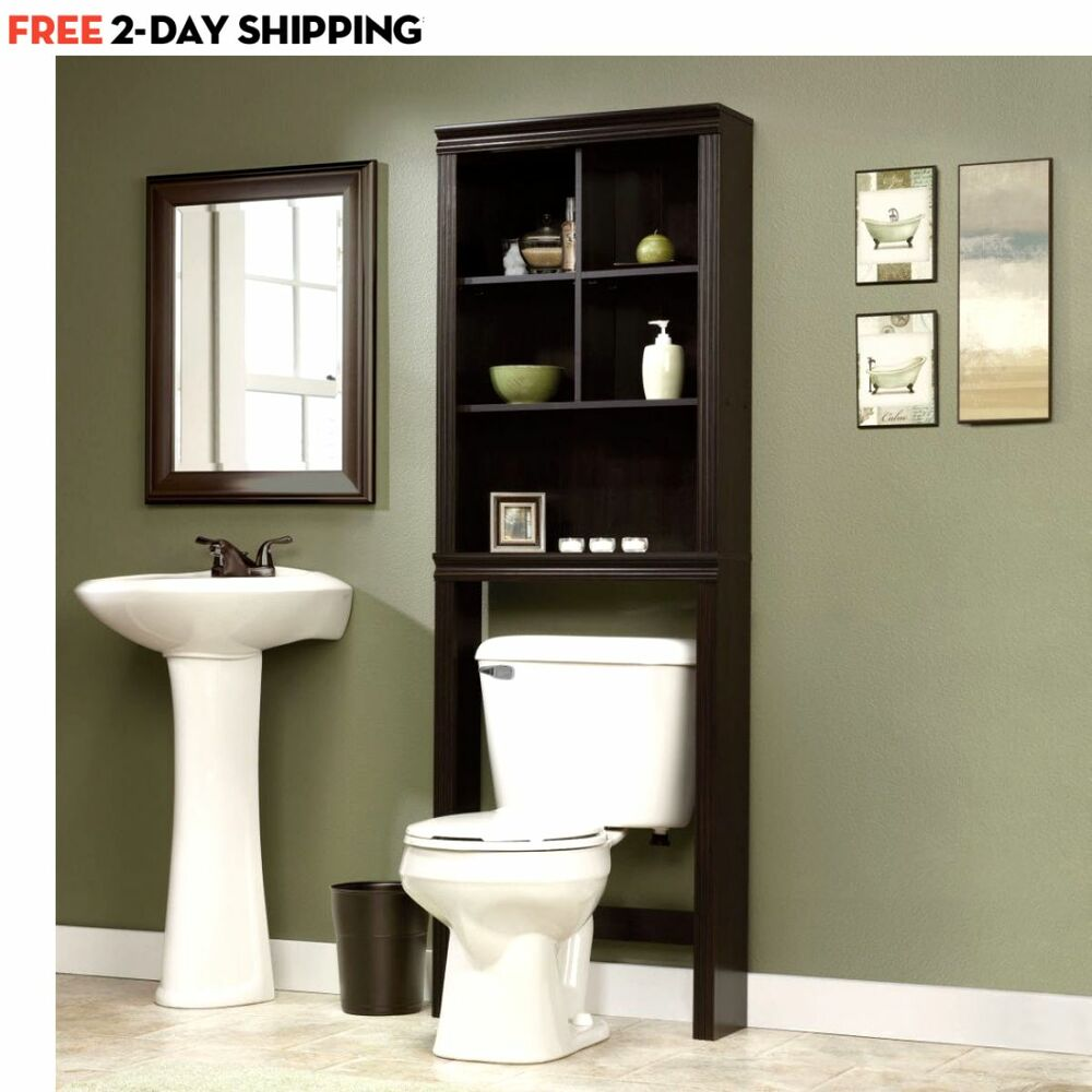 Bathroom Cabinet Over The Toilet Shelves Bath Towels Storage Organizer Shelf New Ebay