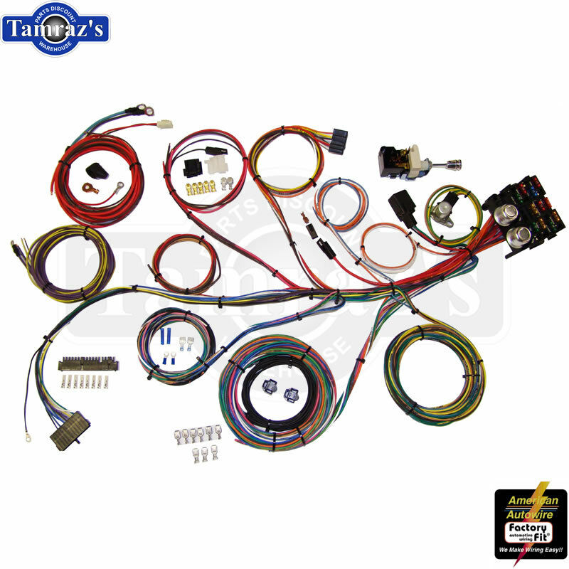 Custom universal hot rat rod wiring harness kit power