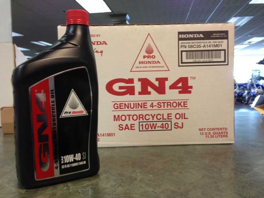 Genuine Honda 6 Quarts Gn4 4 Stroke Motor Oil 10w40 Gn4 Atv Motorcycle Ebay