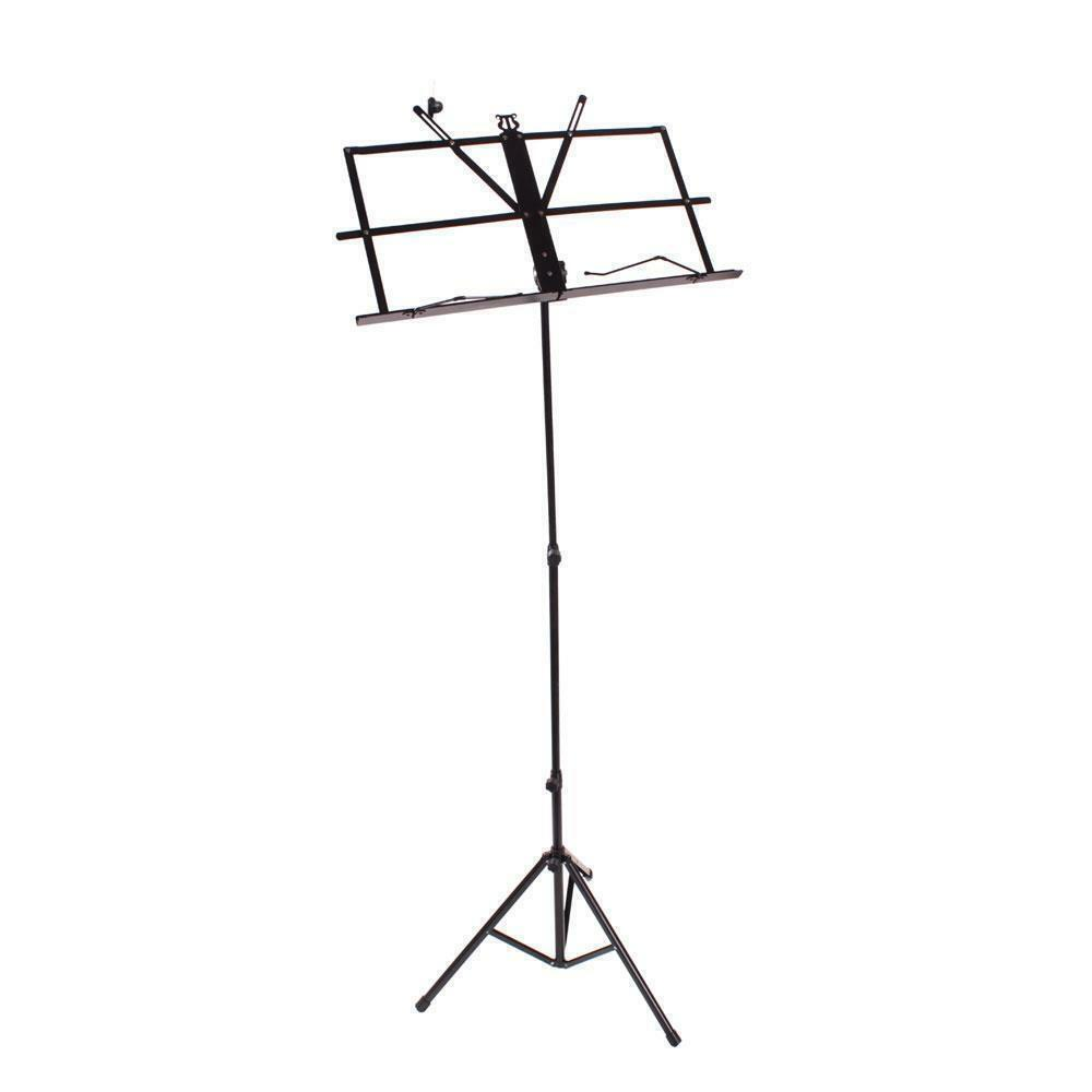 adjustable folding sheet music stand score holder mount tripod carrying bag us 8856553282446 ebay. Black Bedroom Furniture Sets. Home Design Ideas