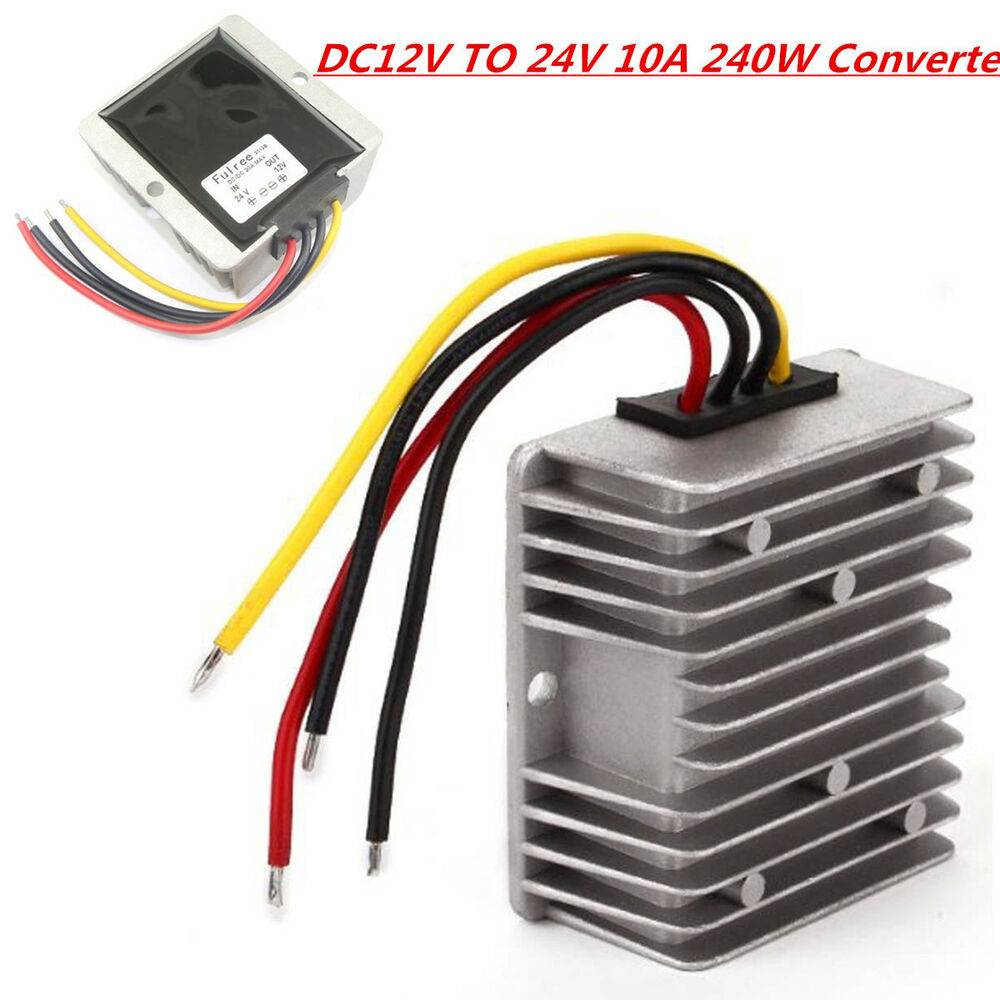 Waterproof converter regulator dc 12v step up to 24v 240w for Waterproof dc motor 12v