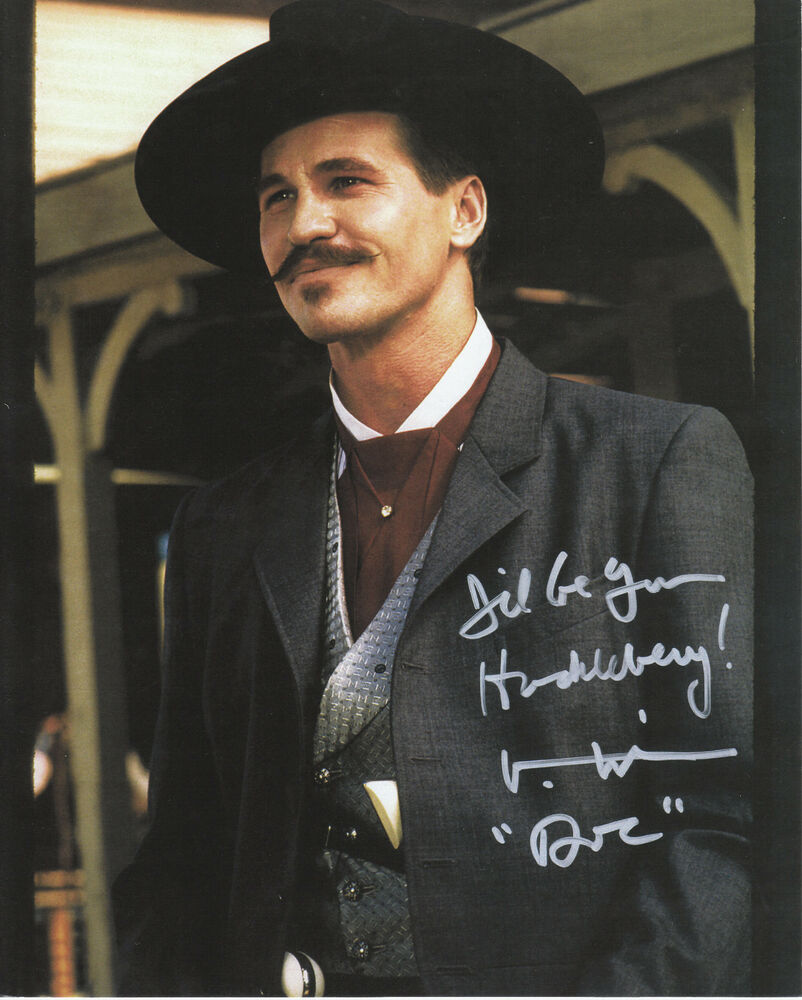 "Doc Holliday Quotes From The Movie Tombstone: Val Kilmer 11"" X 14"" AUTOGRAPHED REPRINT Color"