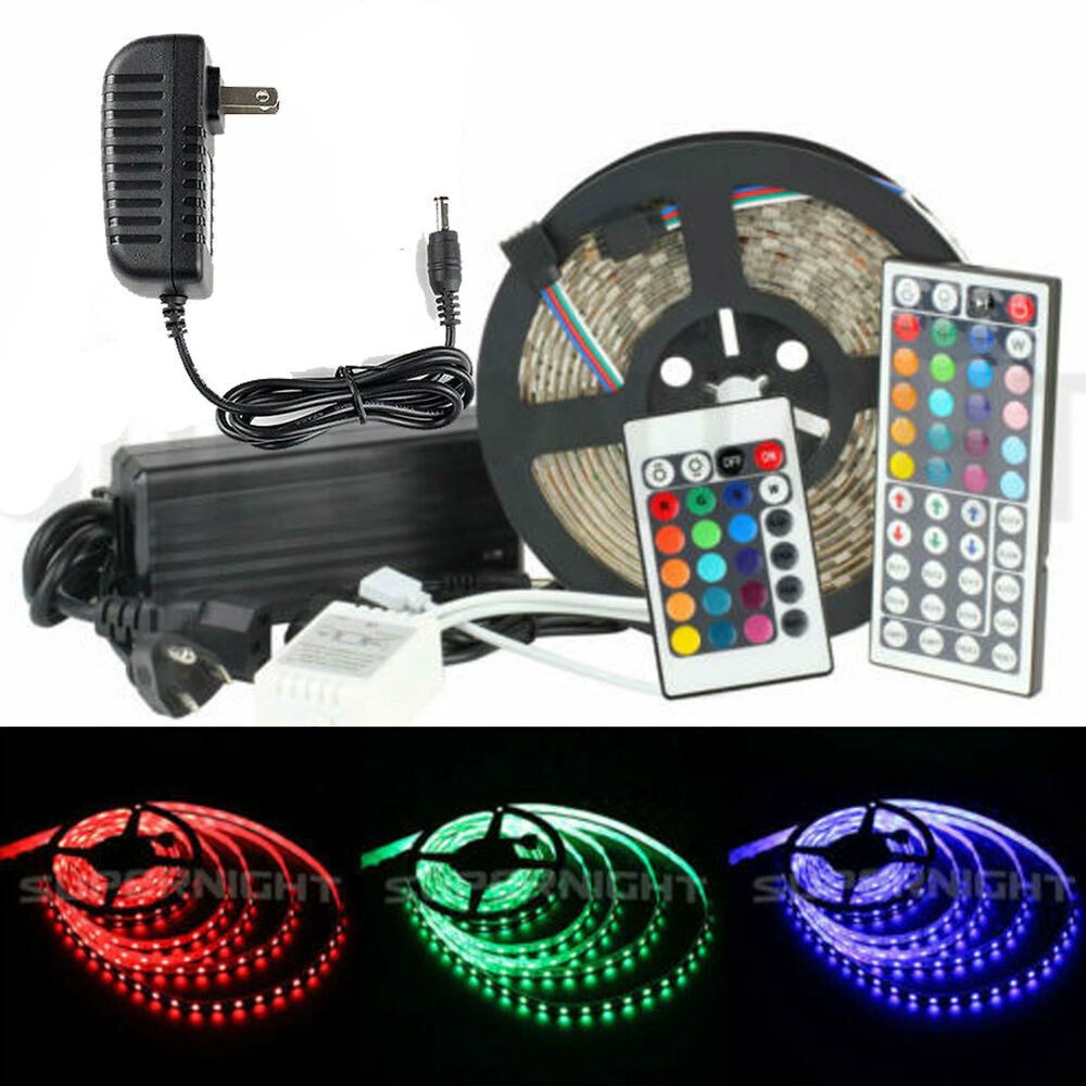 5m 60leds m 3528 5050 smd 300 leds rgb strip light ir. Black Bedroom Furniture Sets. Home Design Ideas