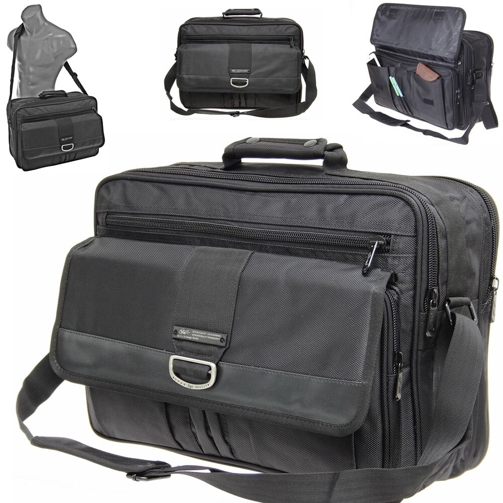 messenger bag umh ngetasche aktentasche herren tasche arbeit schule b ro schwarz ebay. Black Bedroom Furniture Sets. Home Design Ideas