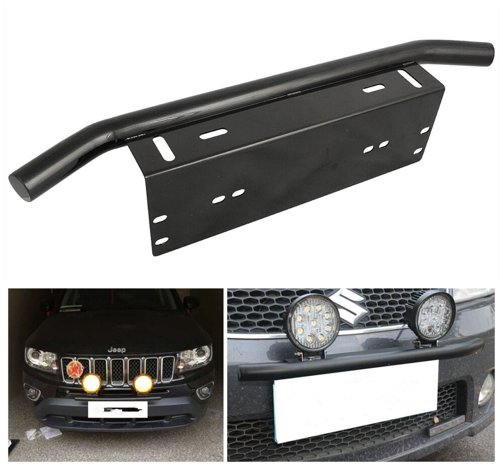 Bull Bar Front Car Off Road Bumper License Plate Mount