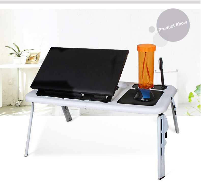 Foldable Table E Table Bed Laptop Lap Desk With Cooling
