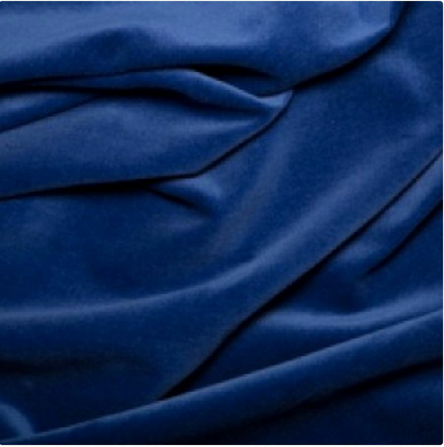 Royal blue luxurious cotton velvet dress fabric material for Dressmaking fabric