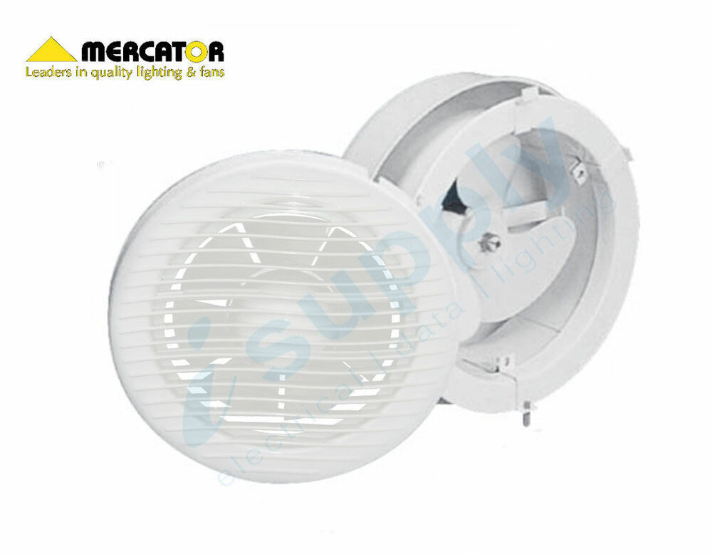 Mercator Window Wall Exhaust Fan 100mm Model Bathroom Round Bwe241wh Ebay