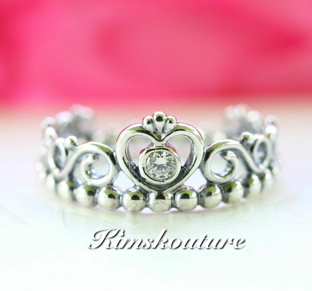authentic pandora ring my princess with clear cz 190880cz