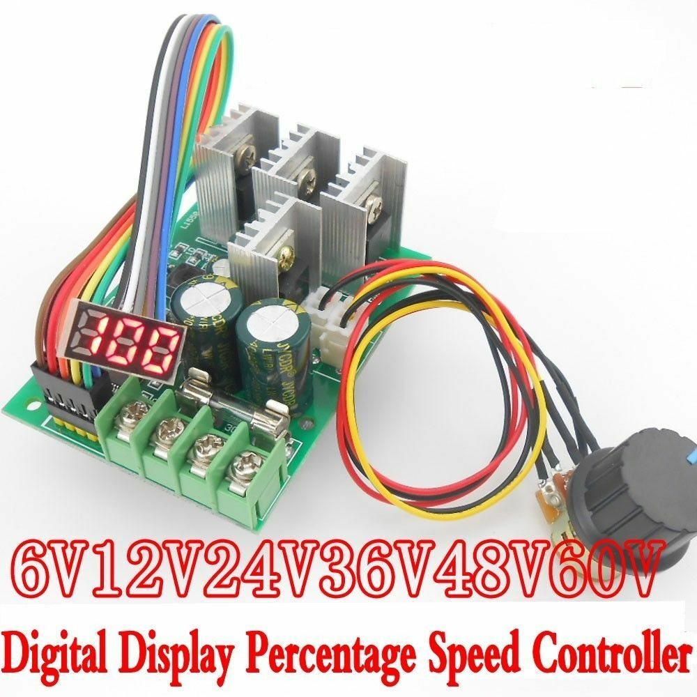 Led 30a pwm motor speed controller digital display control for Motor speed control pwm