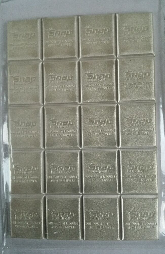 Snap Bullion Elemetal 5 Oz 999 Silver Divisible Bar Easy