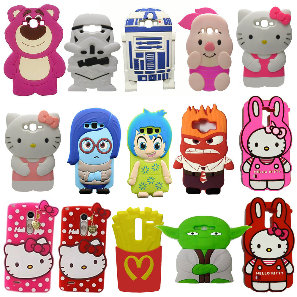 New 3D Cartoon Soft Silicone Rubber Case Cover For Samsung ...