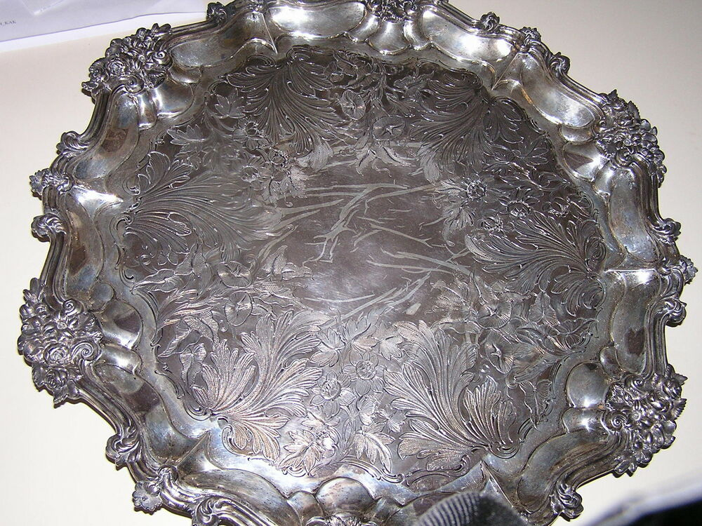 Antique Sterling Silver Serving Tray | eBay