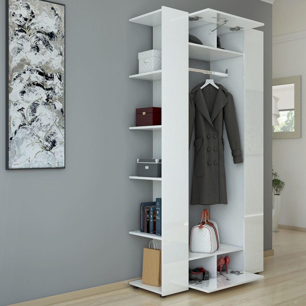 vestiaire armoire d 39 entr e armoire murale tag re panneau. Black Bedroom Furniture Sets. Home Design Ideas