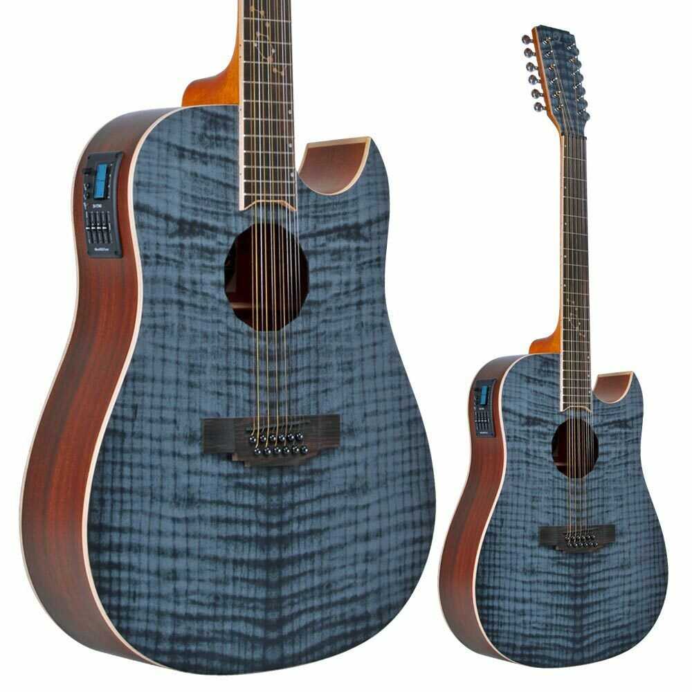 lindo zodiac 12 string electro acoustic guitar with preamp and chromatic tuner ebay. Black Bedroom Furniture Sets. Home Design Ideas