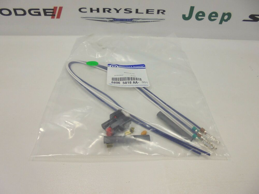 chrysler dodge ram jeep new 2 way connector pigtail
