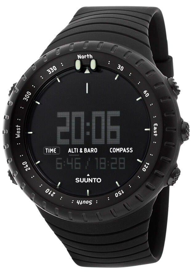 Suunto core all black military digital multi function outdoor watch ss014279010 45235900657 ebay for Outdoor watches