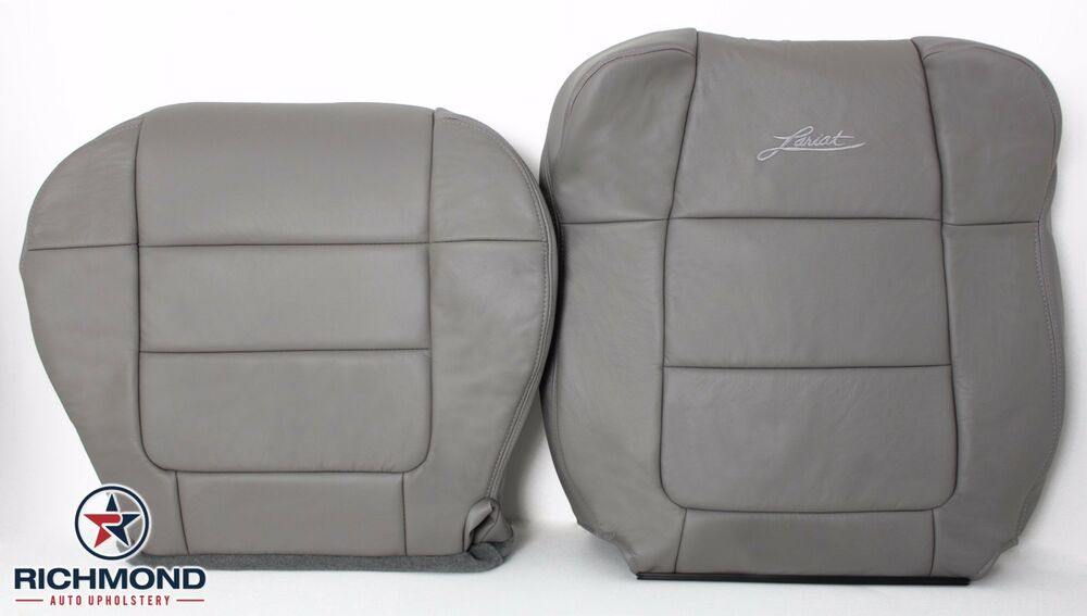 2001 ford f 150 lariat supercrew driver side complete leather seat covers gray ebay. Black Bedroom Furniture Sets. Home Design Ideas