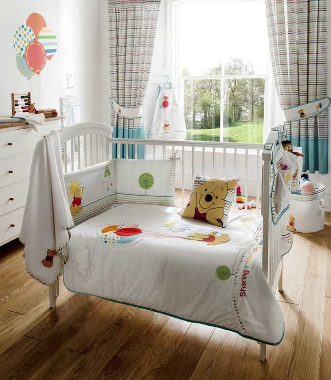 Disney winnie the pooh pooh 39 s sunny day baby bedroom bedding collection ebay - Cute winnie the pooh baby furniture collection ...