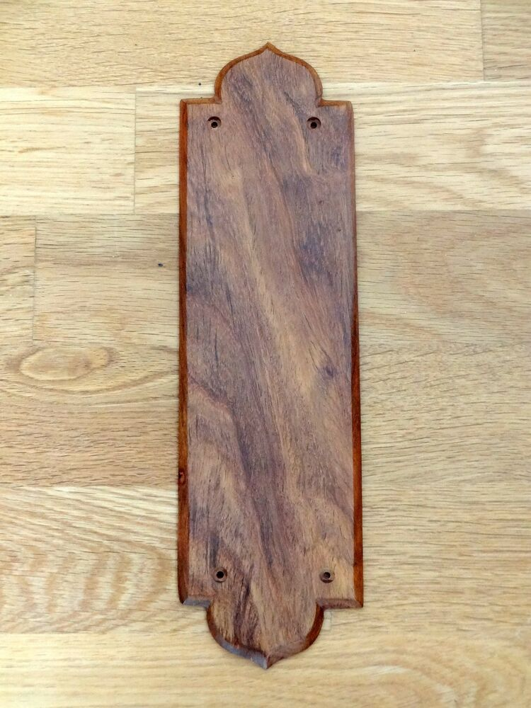 10 rosewood finger door push plates fingerplate wooden for Door push plates