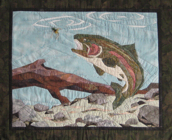 Angler S Dream Art Quilt Pattern By Cynthia England Design