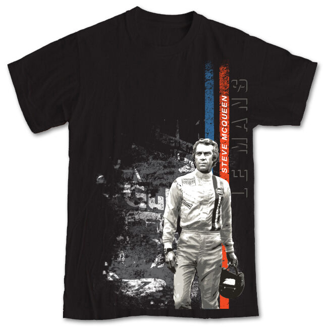 steve mcqueen gulf le mans t shirt white size small not mustang ebay. Black Bedroom Furniture Sets. Home Design Ideas